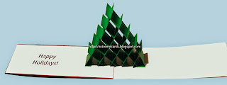 inside of sliceform 3d Christmas tree card