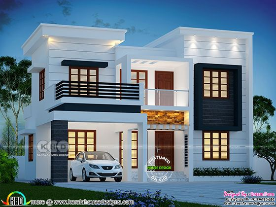 2489 square feet modern house with 4 bedrooms
