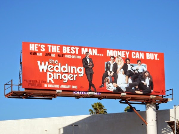 The Wedding Ringer movie billboard