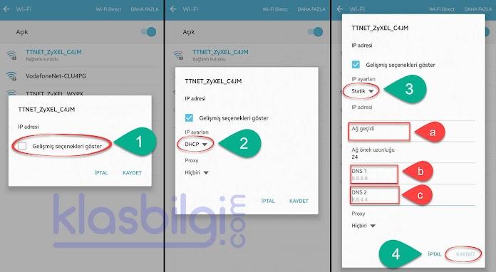 Samsung Cihazlarda DNS Değiştirme