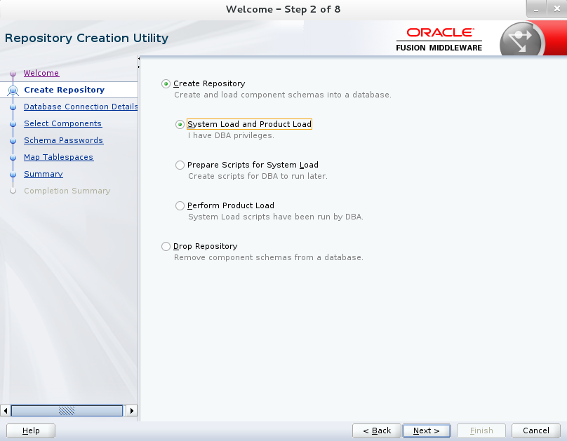 Initial Configuration of Fusion Middleware after the