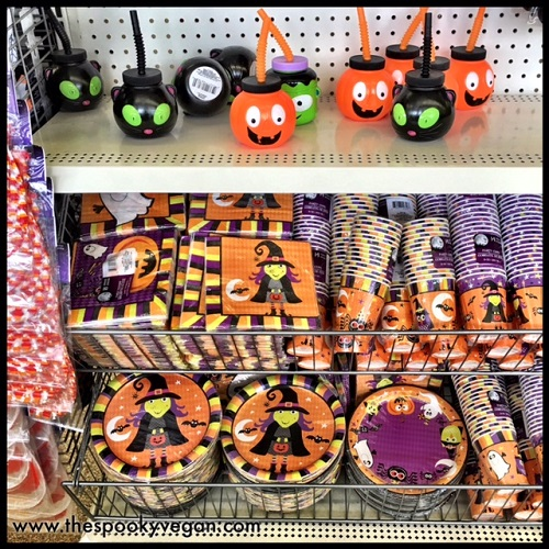 adorable sippy cups and party supplies - Dollar Tree Halloween