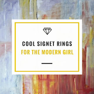 Forget everything you thought you knew about signet rings. Modern signet rings have kept their chunky design but now look more refined which makes them perfect for wearing with all your other rings. Lots of designers have been embracing this androgynous jewellery trend from minimalist engraved styles to colourful and sparkly stone encrusted rings.    Whether you make a statement with a single ring or styling up a stack of rings there is plenty to choose from simple high street finds to investment diamond pink rings. Signet rings are now a cool way to switch up your jewellery game for chic style.