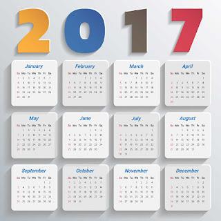 2017カレンダー無料テンプレート185