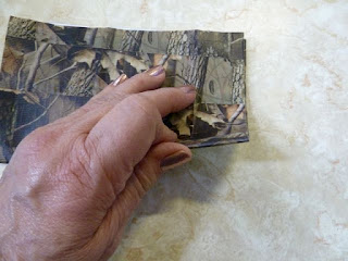 Camo duct tape wallet