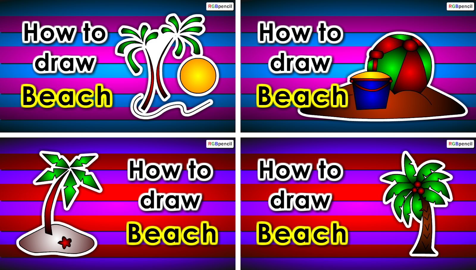 How to draw beach for kids step by step toonparrot how to draw beach for kids altavistaventures Images