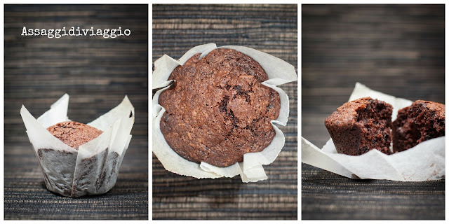 Triple Chocolate Muffins - Muffin al trioplo cioccolato