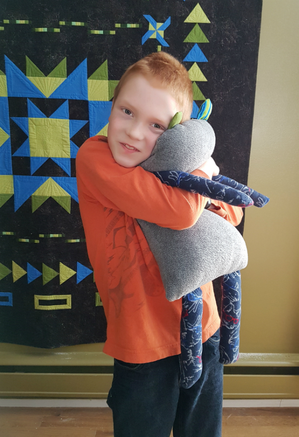 Nathan's monster softie | DevotedQuilter.blogspot.com