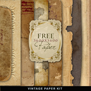 Freebies Kit of Vintage Paper