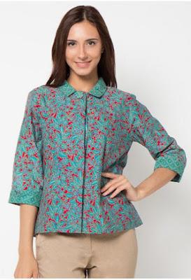 20 Model Baju Batik Wanita Danar Hadi Terbaru 2017 1000