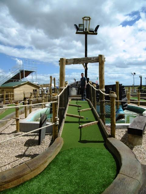 Funderland Adventure Mini Golf course in Dawlish Warren, Devon