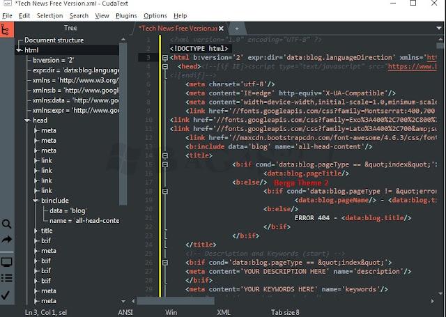 Software Pembuat Program Instan untuk C++ / C / HTML Cuda Text 1.7.6