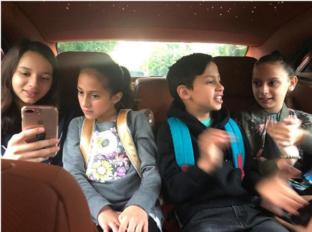 Mum Duties: Jennifer Lopez Shares Photo From Her Morning School Run With The Kids.