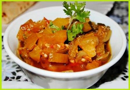 घिया आलू की सब्जी - दूधी की सूखी सब्जी - Sukhi Lauki Sabji Recipe