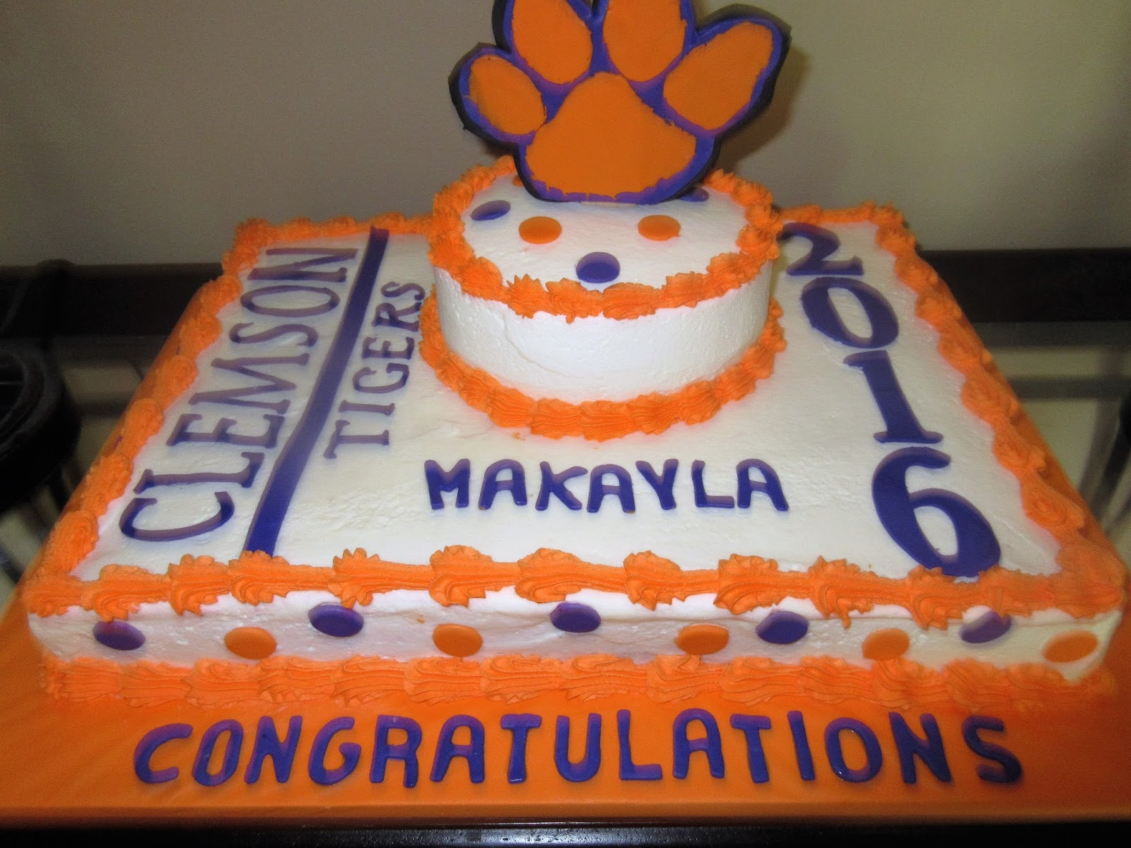 Heading To Clemson Cakes By Mary Ann