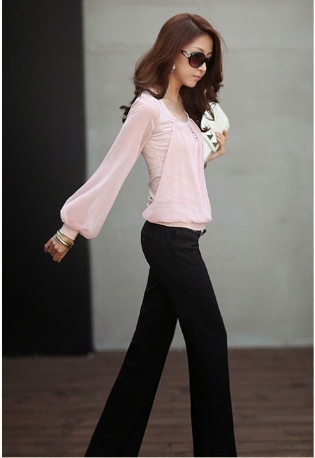 Long Sleeve Chiffon Cotton