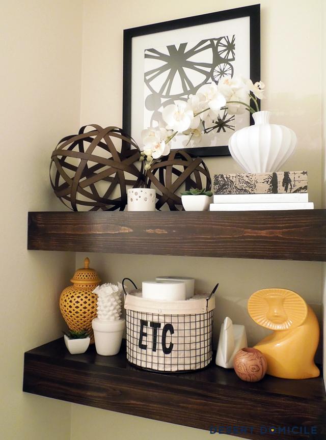 diy 15 chunky wooden floating shelves desert domicile rh desertdomicile com Thick Glass Shelves 1 thick white wall shelves