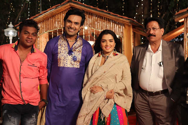 Photo Gallery: Aamrapali Dubey shoots an item song with Aditya Mohan