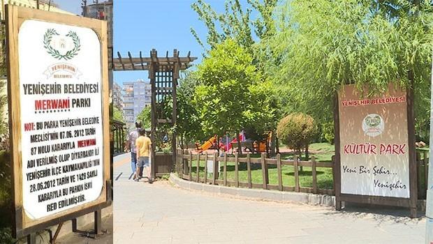 Kayyum, Mervani Parkı nın ismini değiştirdi