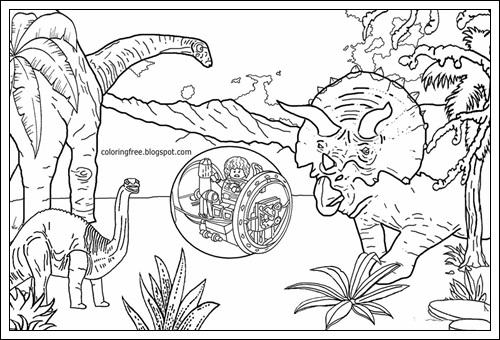 Ausmalbilder zum Ausdrucken Ausmalbilder Jurassic World ...