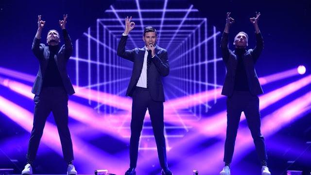 Robin Bengtsson durante el Melodifestivalen 2017 (Photo: SVT)