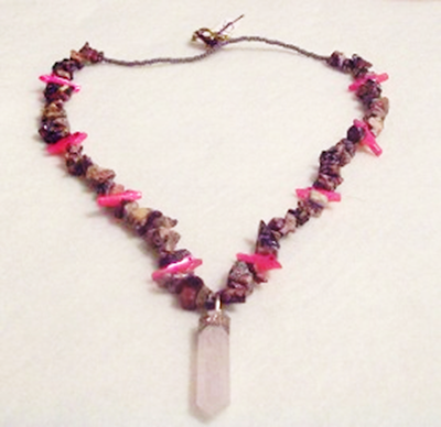 Handmade Beaded Necklace Precious Gemstones