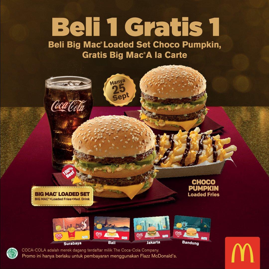 McDonald's - Promo Big Mac Lovers Beli 1 Gratis 1 Setiap Beli Paket Big Mac Loaded Set