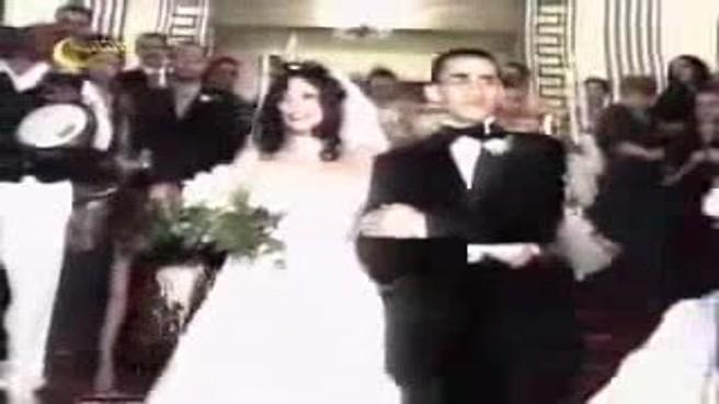 فيديو نادر لحفل زفاف أحمد حلمي ومنى زكي وهو يغني لها