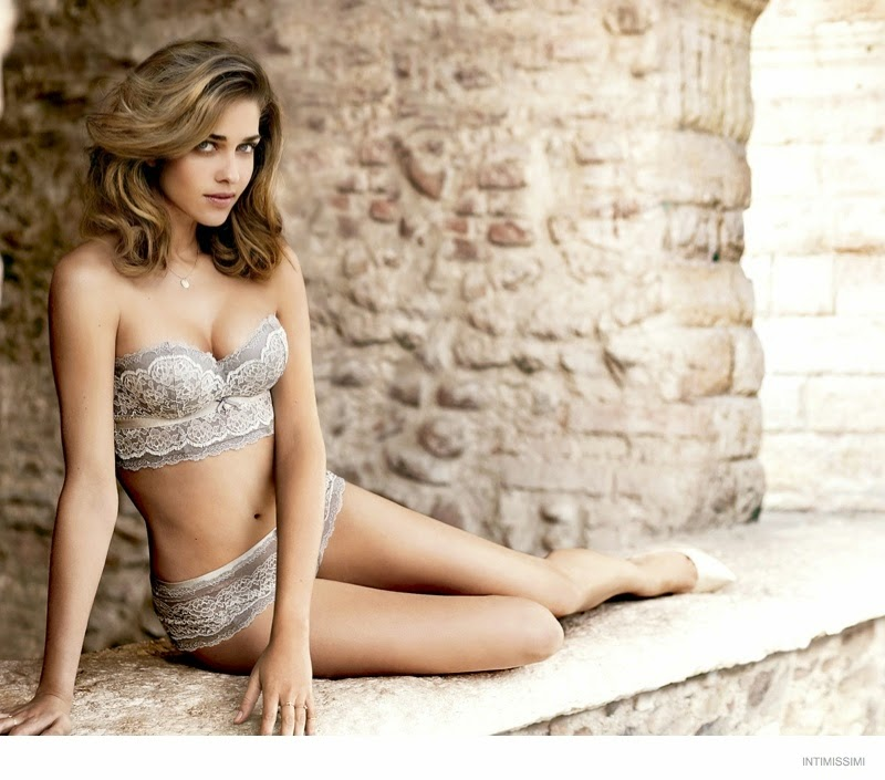 Ana Beatriz Barros wears seductive lingerie for the Intimissimi Fall 2014 Campaign