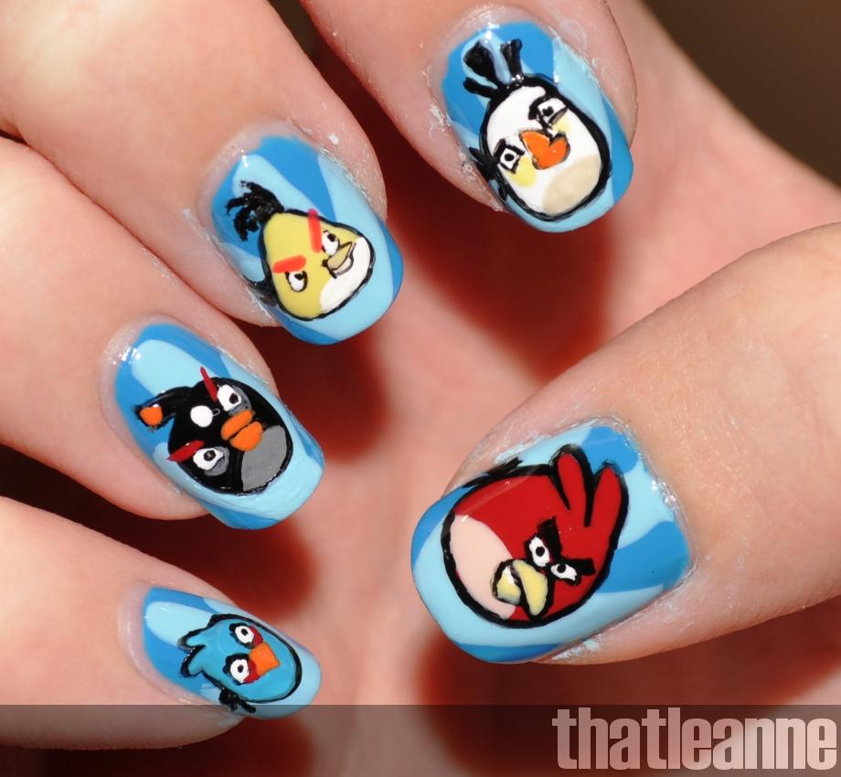 Thatleanne: Angry Birds Nail Art Feat. The Birds