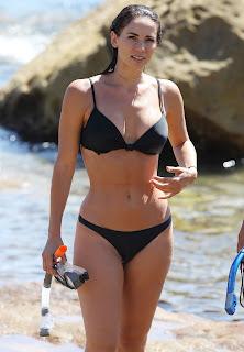 Maddy King in Black Bikini in Bondi, Sydney