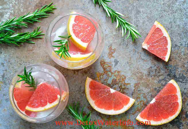 Grapefruit rosemary infused detox water recipe