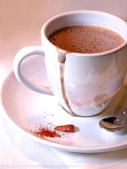 gorąca czekolada z chili do picia