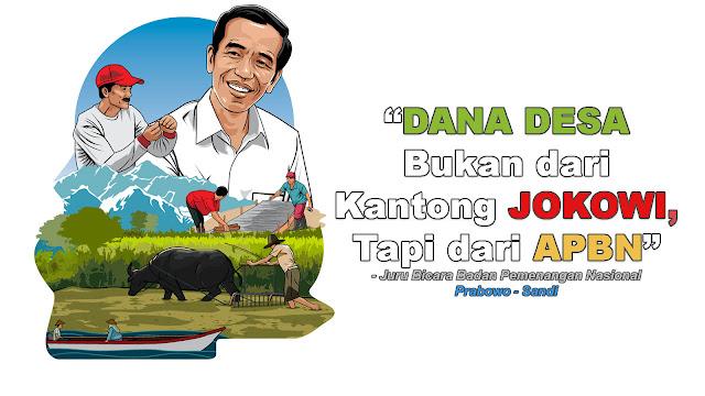 Jubir BPN: Dana Desa dari APBN, Bukan dari Kantong Jokowi
