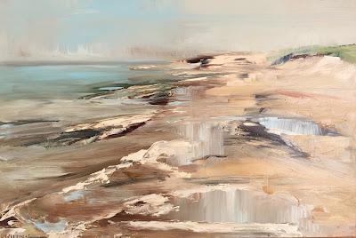 Seascape, oil on panel 20x30 cm by oil painer Philine van der Vegte