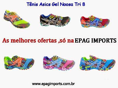 Tênis Asics Gel Noosa Tri 8 Feminino (Varias Cores) - Cabedal confeccionado  em nylon e material sintético. Conta com fechamento em cadarço e etiqueta  ... 9eb4112415bf5