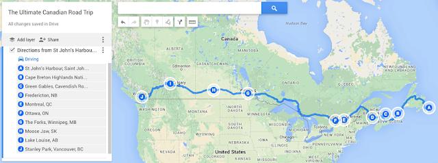 Viagem de carro peloo Canadá