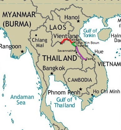 Here There and an Attempt on Everywhere South Past Savannakhet and