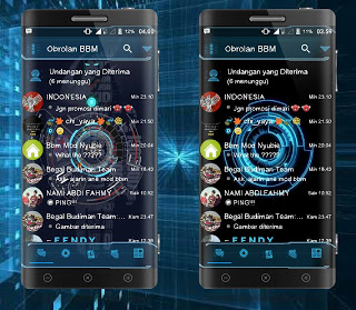 BBM Mod Droid Chat! Futuristic v3.2.0.6 Apk