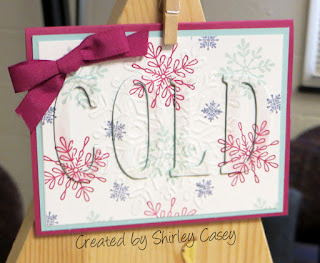 Stampin' Up! Snowflake Sentiment Eclipse Card by Shirley Casey