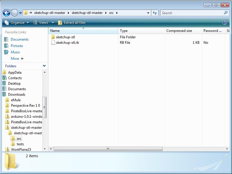 Sketchup plugin folder