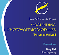 grounding photovoltaic module  study report.