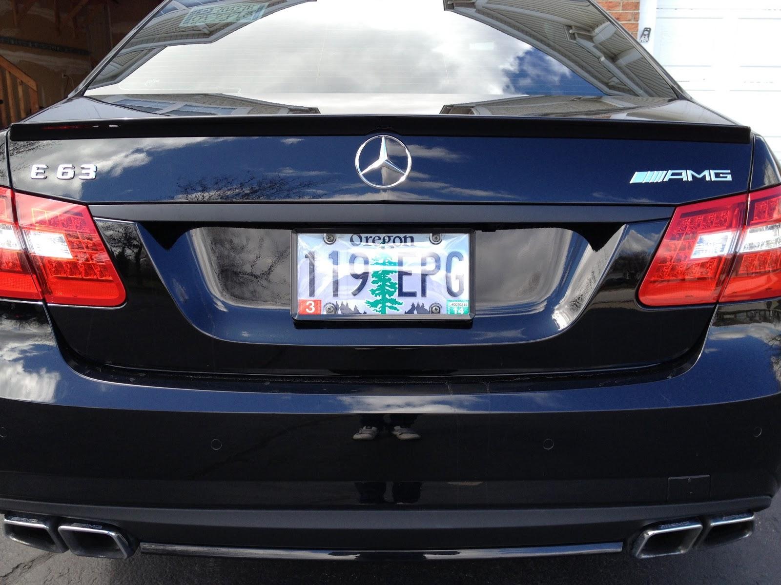 Mercedes W212 E63 AMG Mods : Blackout Trunk Chrome - E63 AMG