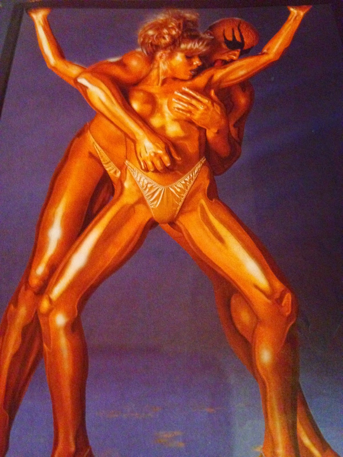 WWE - WWF RAW MAGAZINE 1997: Goldust and Marlena