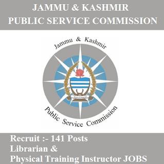 Jammu and Kashmir Public Service Commission, JKPSC, PSC, J&K, Jammu and Kashmir, Librarian, Physical Instructor, freejobalert, Sarkari Naukri, Latest Jobs, jkpsc logo