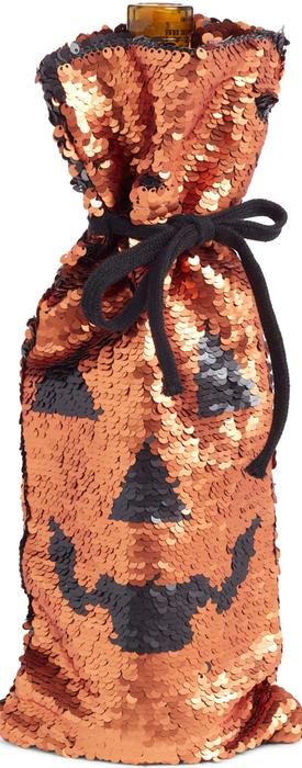Levtex Pumpkin Sequin Wine Bag