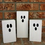 scrap wood ghosts DIY