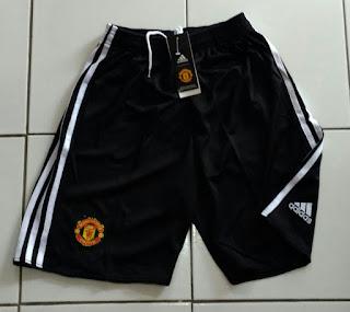 Jual Celana Manchester United Home Hitam 2017/2018 di toko jersey jogja sumacomp, murah berkualitas
