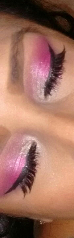 Maquillaje Ojos Rosa Plata