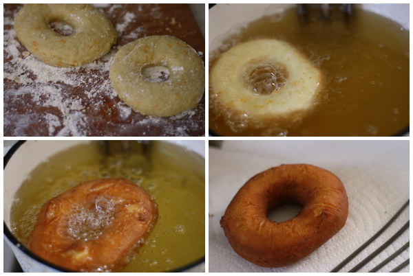 making Orange-Fennel Cake Doughnuts